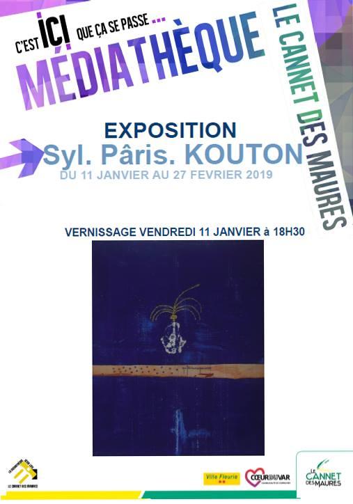 Affiche Expo 2019. Médiathèque  Le Cannet des Maures